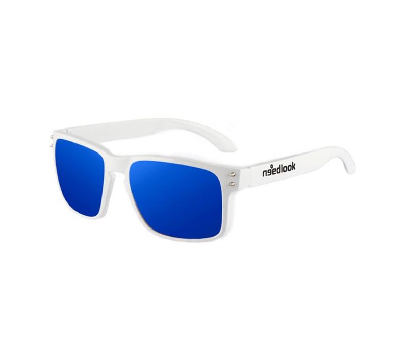 272fceda3d Gafas de sol polarizadas con acabado glossy blanco y cristal azul ...