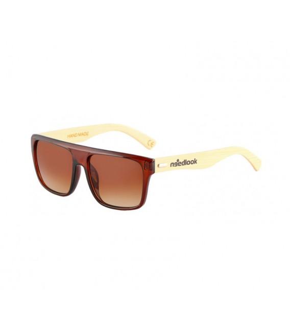 badc955ec9 Gafas de sol polarizadas de bamboo con acabado marrón brillante y ...