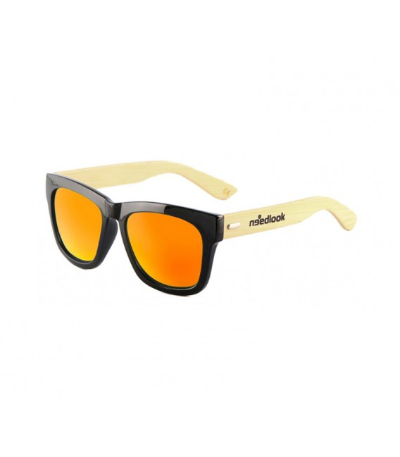 BAMBOO BLACK OVAL GLOSSY / ORANGE SUNSET