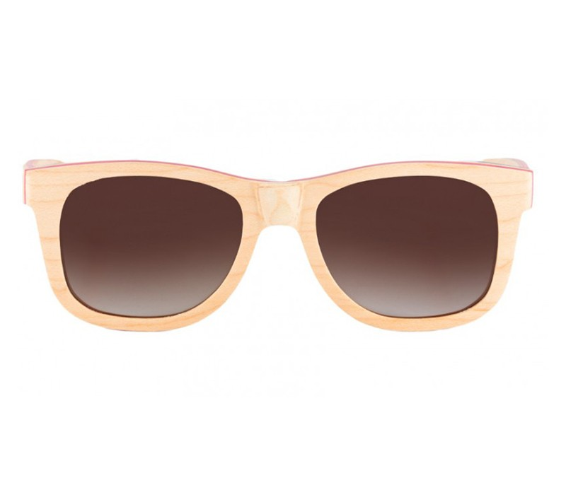 FULL BAMBOO NATURAL WALNUT WAYFARER / BROWN