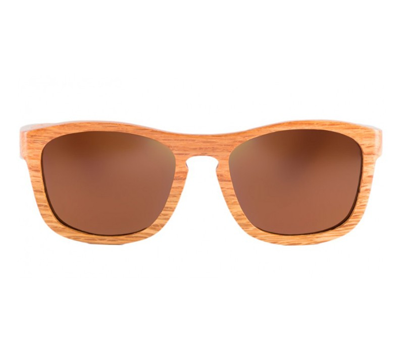 FULL BAMBOO DARK WALNUT WAYFARER / BROWN